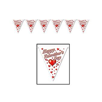 Happy Valentine's Day Pennant Banner