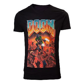 DOOM Classic Boxart T-Shirt Male Small Black (TS240007DOO-S)