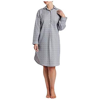 British Boxers Earl Rose Print Nightshirt - Grey