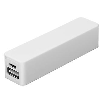 2600 USB mAh Power Bank licht compact-wit