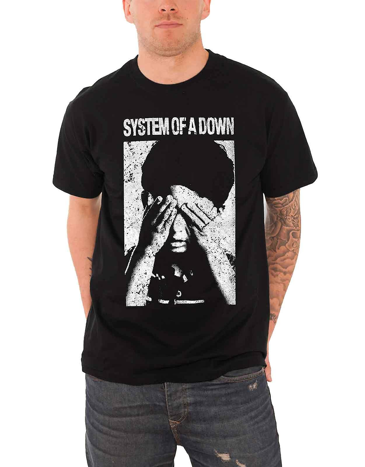 System of a Down T Shirt See No Evil Band Logo Contrast Official Mens New Black
