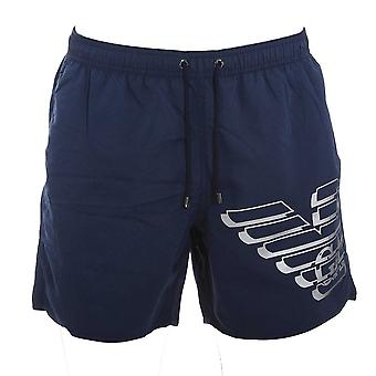 Emporio Armani Eagle Logo Swim Shorts, Navy Large (50)
