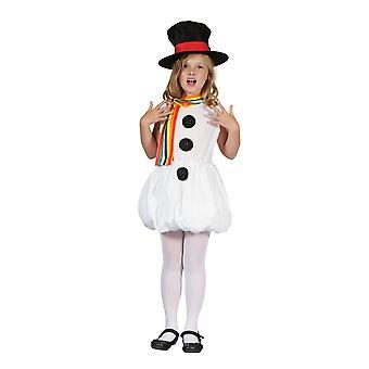 Costume da snowman di Bristol Novelty Childrens/Girls Snowman