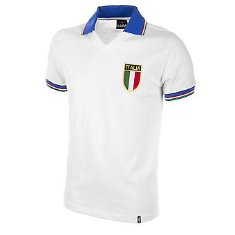 Italy Away World Cup 1982 Short Sleeve Retro Football Shirt