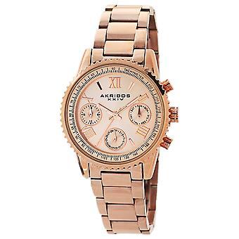 Akribos XXIV AKS191100RG Frauen's Quarz Multifunktions Armband Uhr