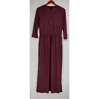H by Halston Dress 3/4 Sleeve Maxi with Drawstring Purple A275437