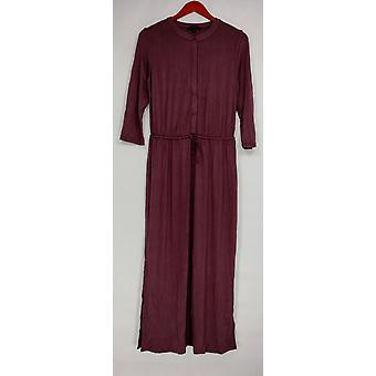 H by Halston kjole 3/4 ermet Maxi med snøring lilla A275437