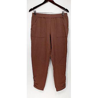 Anybody Women's Lounge Pants, Sleep Shorts Cozy Knit Brown A307835