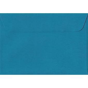 Gasolina azul casca/selo C6/A6 azul Envelopes coloridos. 100gsm suíço Premium FSC papel. 114 mm x 162 mm. carteira estilo Envelope.