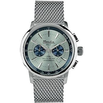 Mondia italy 1946 Chrono Japanese Quartz Analog Man Watch with MI744-2BM Stainless Steel Bracelet