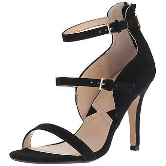 Adrienne Vittadini Womens Georgino Suede Open Toe Ankle Strap Classic Pumps