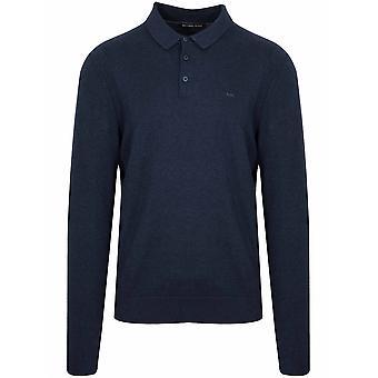 Michael Kors  Navy Blue Long-Sleeve Polo Shirt