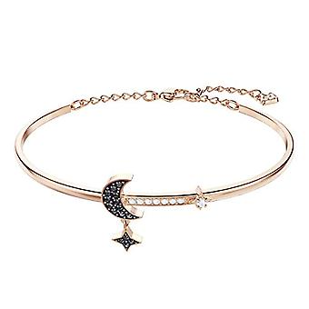 Swarovski Rigid Bracelet Duo Moon - Medium - Black - Rose Gold Plated