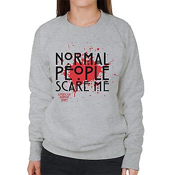 American Horror Story Blood Normal People Scare Me Women's Sweatshirt