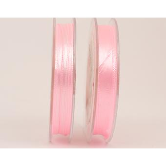 10m Baby Pink 3mm Wide Polyester Satin Craft Ribbon | Ribbons & Bows for Crafts