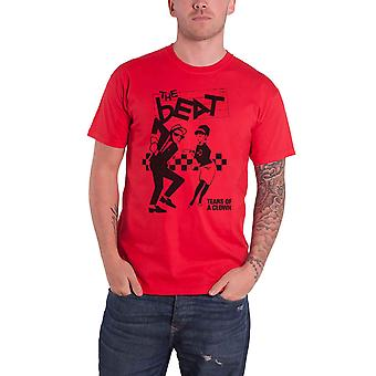 The Beat T Shirt Tears Of A Clown Band Logo new Official Mens Red