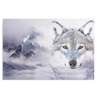 Canvas, Picture on canvas, Wolves in winter