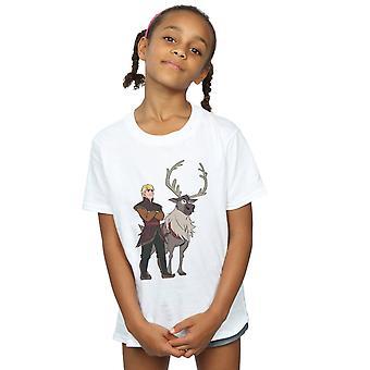 Disney Girls Frozen 2 Sven And Kristoff T-Shirt