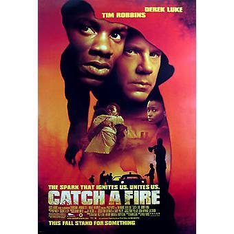 اشتعلت فيها النيران (مزدوجة الجانب العادية) ملصق السينما الأصلي