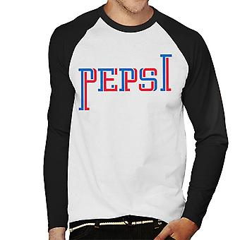 Pepsi Zwei-Ton-Text Men's Baseball langärmelige T-Shirt