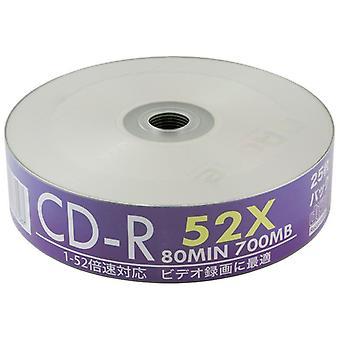 Quad 4 Pack Aone 25 vasca bianco Full Face Inkjet Printable 52 x CD di musica/dati 100 dischi CDR CD-R vuoto