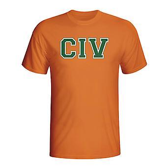 Elfenbenskysten land Iso T-shirt (orange)