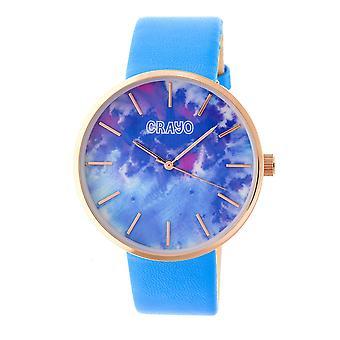 Crayo redemoinho unisex Watch-Rose Gold/em pó azul