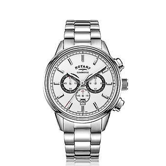 الروتاري GB05395-02 الرجال & s كامبريدج كرونوغراف ساعة اليد