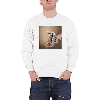 Official Sweatshirt ARIANA GRANDE Sweetener Staircase Logo new Unisex White