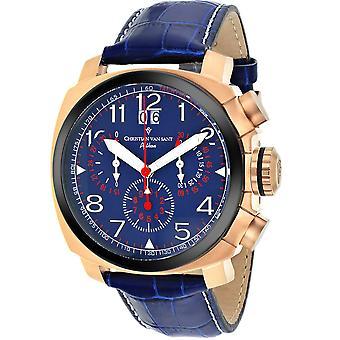 Christian Van Sant Men's Grand Python Blue Dial Watch - CV3AU5