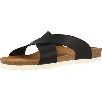 Gele winkel sandalen 78720 kleur zwart