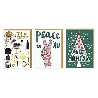oh Deer Merry Always Christmas Cards (Pack Of 6)