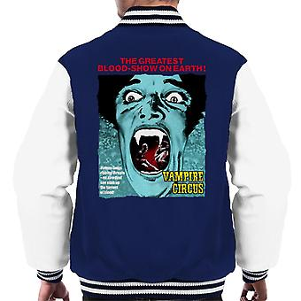 Hammer Horror Films Vampire Circus Greatest Blood Show Men's Varsity Jacket