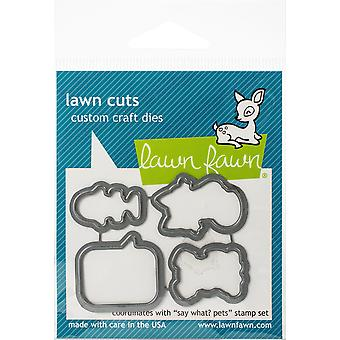 Lawn Fawn Say What? Pets Cutting Dies