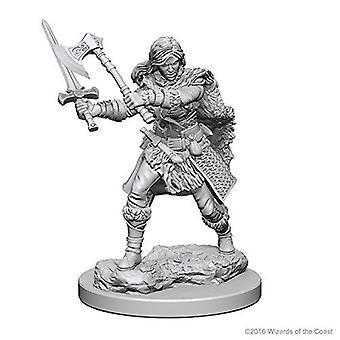 D&D Nolzur's Marvelous Unpainted Miniatures Human Female Barbarian (Pack of 6)