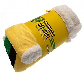Norwich City Sherpa Fleece Blanket