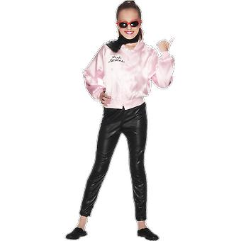 Girls Age 4 - 12 Years Grease Pink Ladys Fancy Dress Costume Jacket