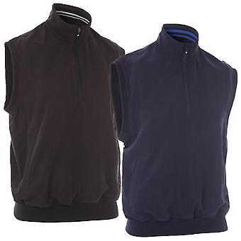 Proquip Golf Hommes Aquasoft Vest Half Zip Wind Top