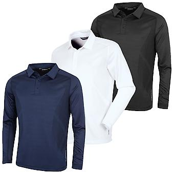 Sunice Golf Mens James Long Sleeve Polo Shirt Coollite