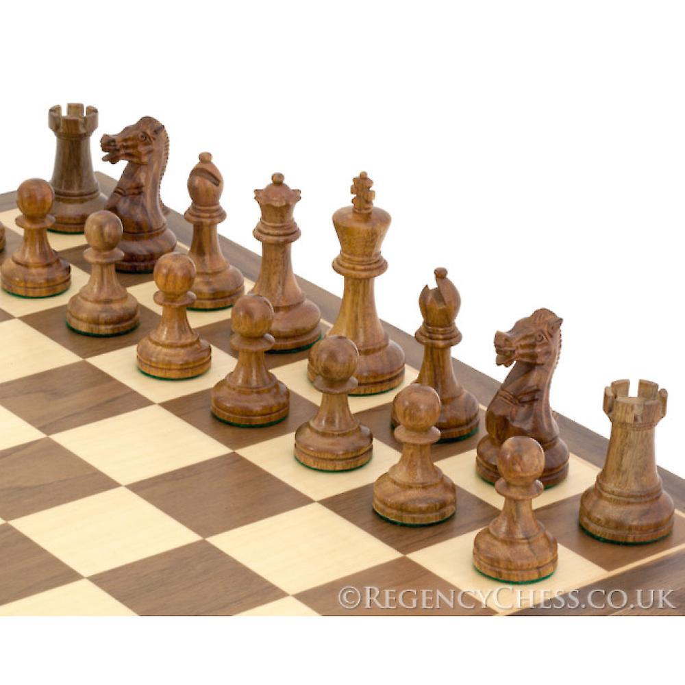 Executive Sheesham and Walnut Staunton Chess Set