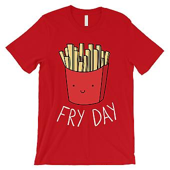 365 Printing Fry Day Mens Red Silly Food Saying Exciting Celebratory T-Shirt