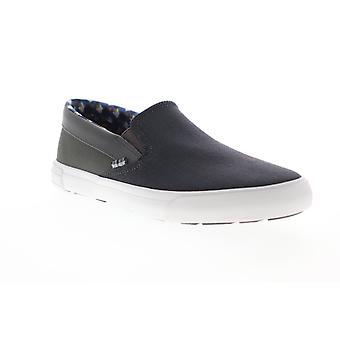 Ben Sherman Percy Slip On  Mens Gray Canvas Sneakers Shoes