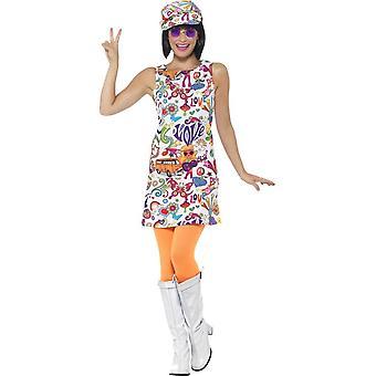 60 الفرخ رائع زي، الملونة المتعددة، مع فستان آند هات