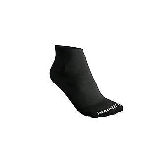 Zero Point Performance Compression Ankle Socks [Style ZP12] Deep Black  S