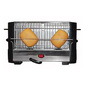 COMELEC TP-7713/7714 800W black steel stainless toaster