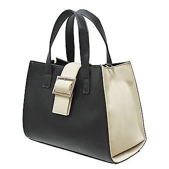 Envy Bags Envy 177 Zip Top Grab Bag With Contrast Gussets Black