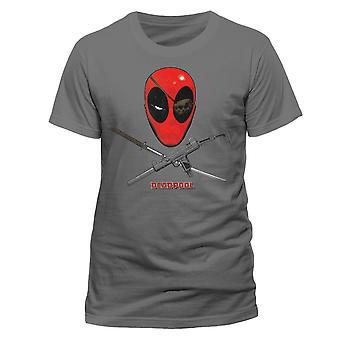 דדפול-חולצת מארוול קומיקס אפור רשמי