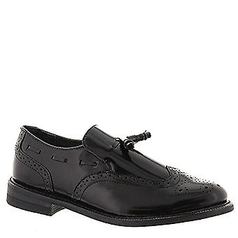 Executive Imperials Men's Wingtip Slip-On 11.5 4E US Black