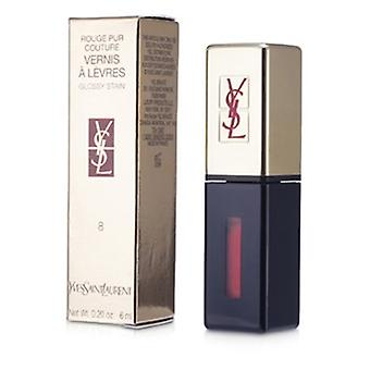 Yves Saint Laurent Rouge Pur Couture Vernis A Levres Glossy Stain - #8 Orange De Chine 6ml/0.2oz
