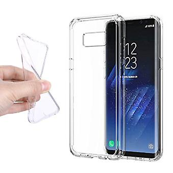 Stuff Certified® 2-Pack Transparent Clear Silicone Case Cover TPU Case Samsung Galaxy S8